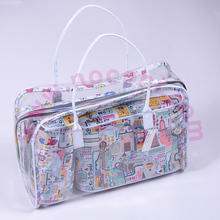 Noconi fashion style cartoon pattern light pvc cosmetic bag set