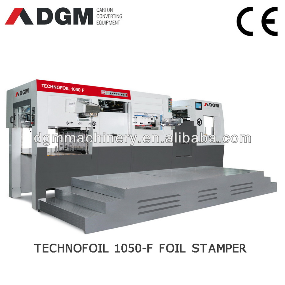 HOT FOIL STAMPERS TECHNOFOIL1050 F Automatic die creasing and cutting machine
