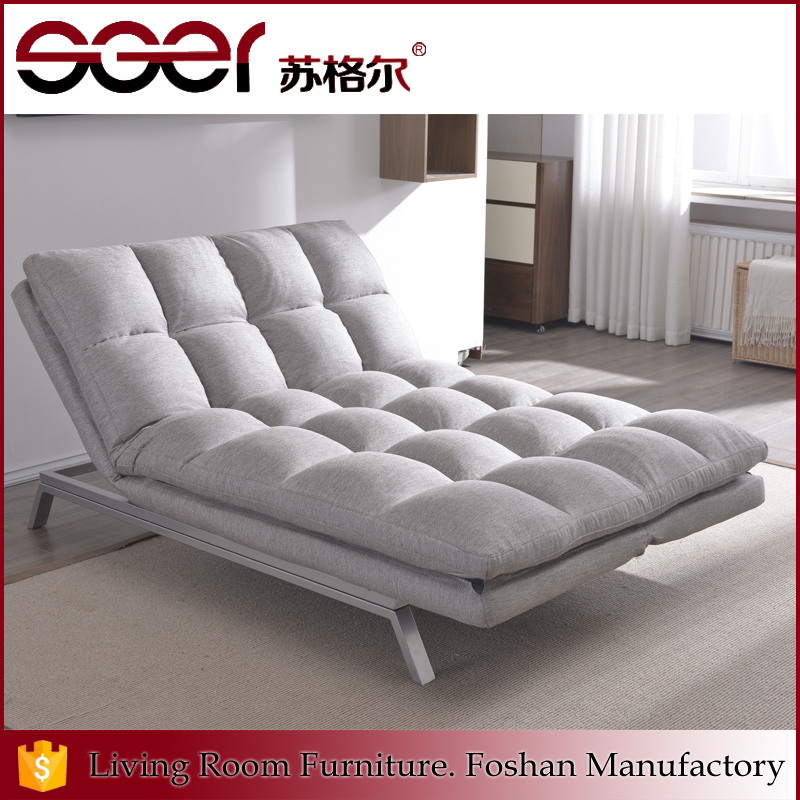 Foshan city furniture manufacturers bedroom fabric chiaise lounge sofa
