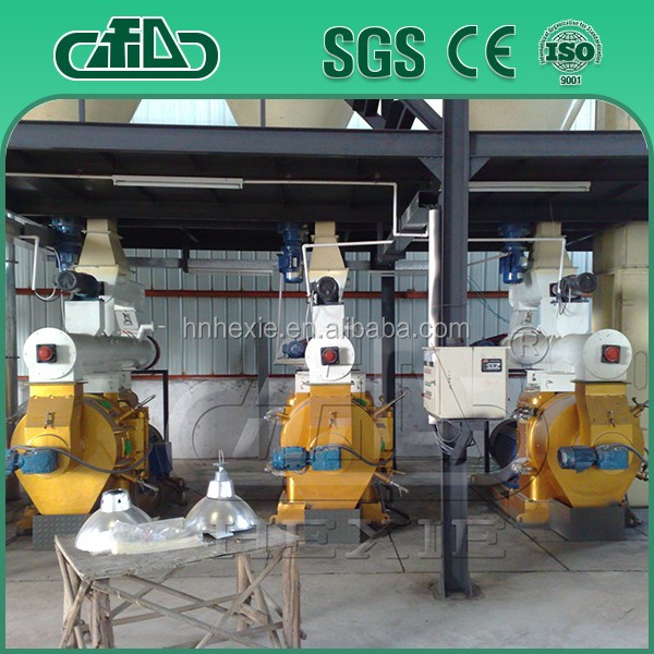 CE approved wood pellet production ling lead pellet making machine