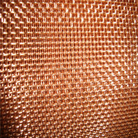 High quality red copper chicken wire mesh electromagnetic shielding fabric