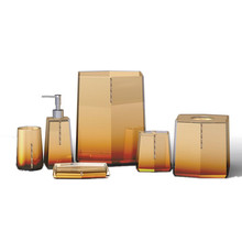 Luxury Factory Wholesale Plastic Clear Resin Transparent Bathroom Accessory Set