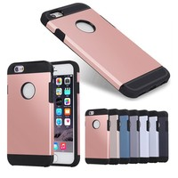 Wholesale TPU PC Combo Case for iphone 7, Slim Armor Metal Slate Rugged Case Dual Layer Protective Cover for iPhone 7