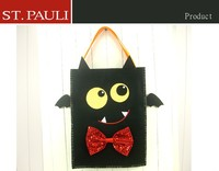 Recyclable material applique unique pattern felt halloween shopping bag