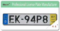 Euro size auto license number plate for Espanol, Portugal, Greece, Netherlands etc.