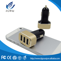 Latest popular mobile phone accessories 3 USB phone car charger
