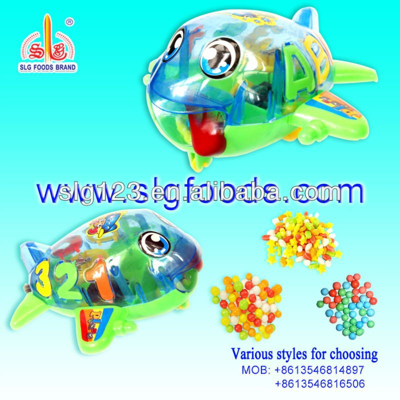 Children favorite funny plane toy candy