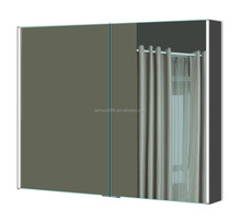 Hotel Bathroom shaving storage mirror cabinet with illuminated mirror