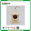 animal protection use cheap bird cage unfinished wood hanging bird house