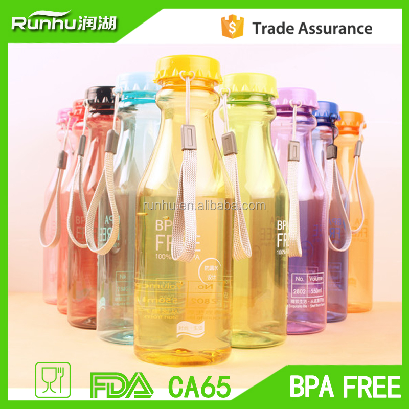 500ml cheap creative plastic water bottle for outdoor sports RH208-500
