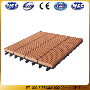 Outdoor easy install DIY WPC tile/wpc flooring DIY02