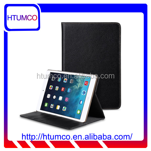 Black Book Stand Stylish Premium Leather Case for Apple iPad mini 4