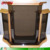 Top quality smoke color cheap church pulpits acrylic wing podium lectern with wooden