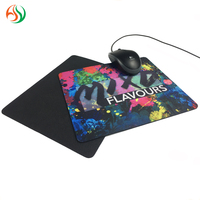No Smell And Non-Toxic Custom Size Printed Logo Computer Mousepad Neoprene Rubber Polyester Fabric Mouse pad Mat For Promotion
