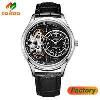men watch Mens Chronograph Luminous Leather Strap Quartz Wristwatches Fashion Waterproof Military Sport Watch for Man