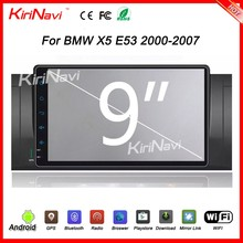 "Kirinavi wholesales WC-BW9019 9"" android 6.0 car radio dvd for e53 x5 car dvd player 2002 - 2007 BT gps 3g TV"
