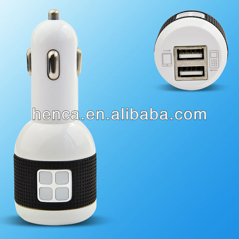 dual usb cheap car charger with output 2100mA