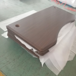 20mm thickness P2 MDF board customer made table top desk top