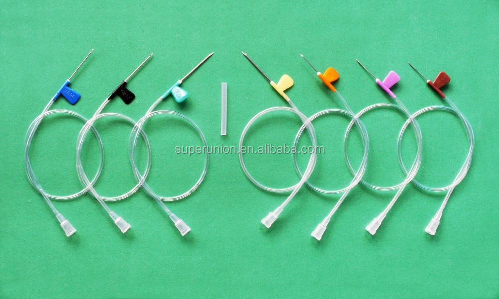 Medical disposable scalp butterfly needles different sizes