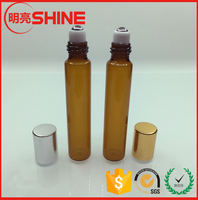 5ml 10ml 15ml 20ml Amber Grass Roll-on Personal Care Perfume Bottle