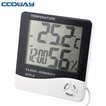 Hottest competitive price digital clock thermometer outdoor with large LCD Display