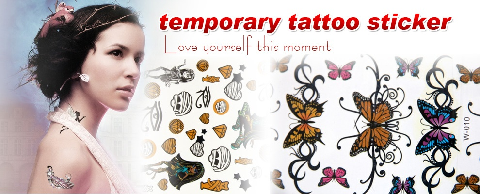 Waterproof Temporary Tattoo flag tattoo sticker