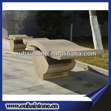 Unique Designed Stone Benches Irregular Curved Stone Park Benches