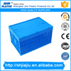 Lid attached collapsible storage plastic crate