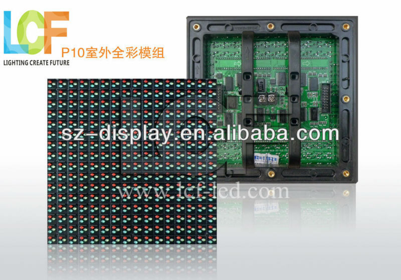 high quality p10 rgb full color led display module