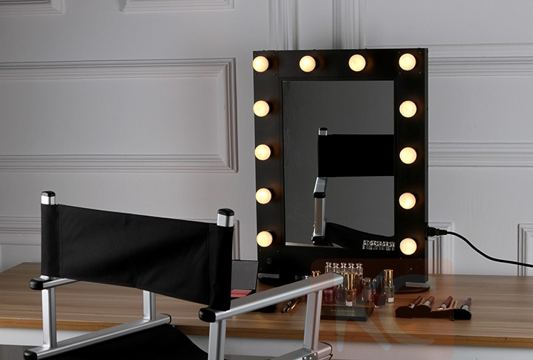 hollywood style miroir avec led lumi res professionnel. Black Bedroom Furniture Sets. Home Design Ideas