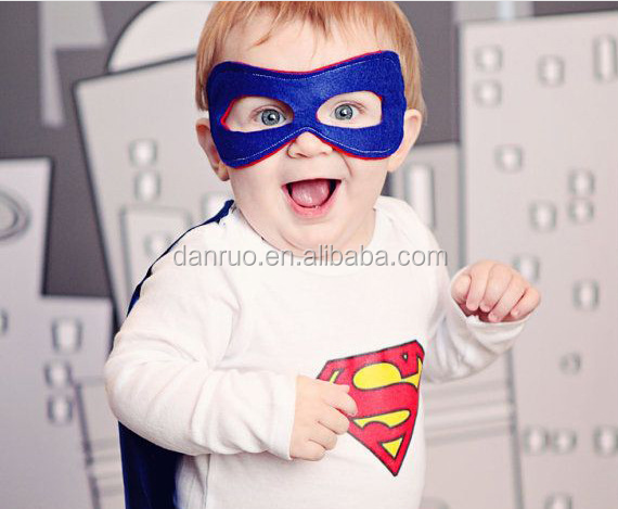 Halloween felt superhero mask wholesale price animal type child face mask paty decorations.