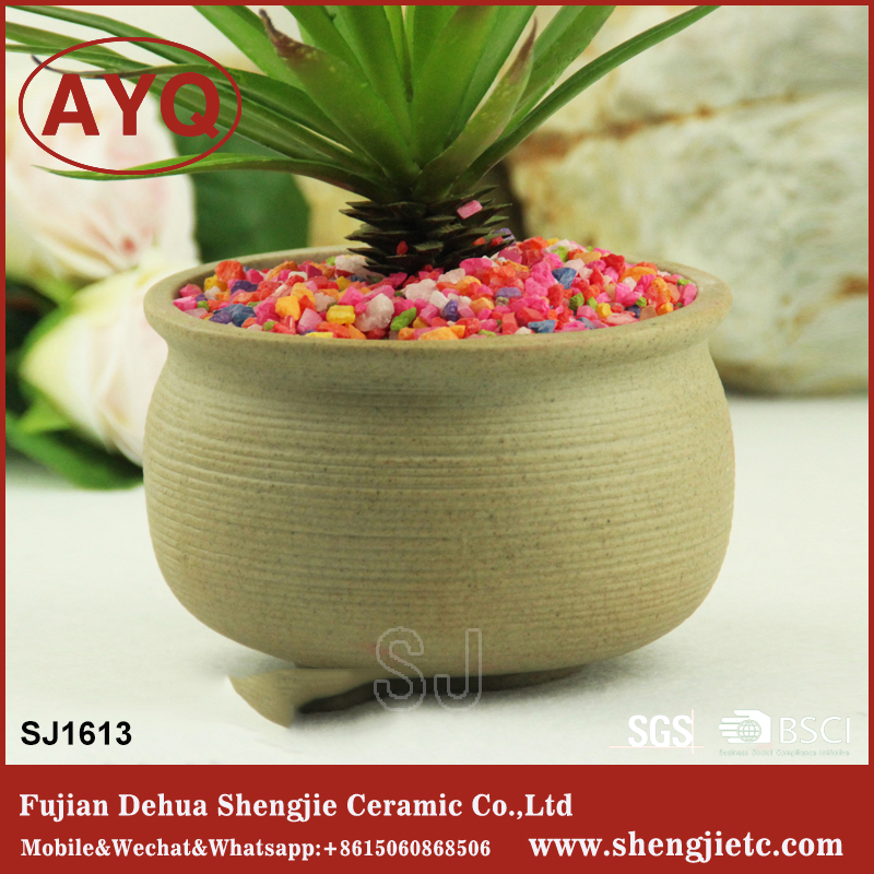 widemouthed round ceramic flower planter garden ceramic planter pot for sales
