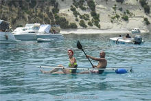 transparent plastic fishing kayak for two person