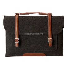 2016 New fashion top selling wholesale women felt business bag/shopping bag/handbag