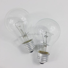 Popular CE RoHS approval A55 A60 clear glass incandescent light bulb 40w 60w 75w 100w frosted glass cover incandescent bulb