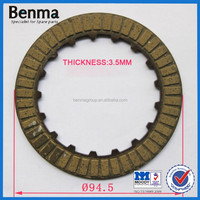 Paper base clutch friction plate Pakistan JH70/90cc/CG125 motorcycle parts Motorbike clutch plate price