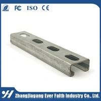 Zinc Galvanized Steel Building Materials Slotted C Channel