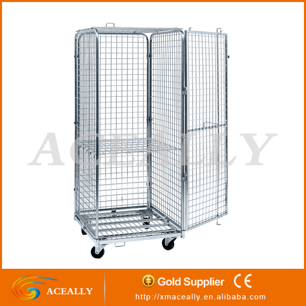 4 Sides Roll Container/Roll Cage/Warehouse Trolley