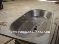 OEM cast steel aluminum Dross Pan/Skim Pan/sow mold ingot mold made in alibaba china foundry