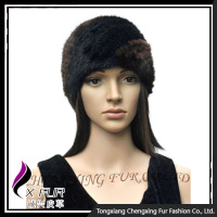 CX-E-10G Knitted Mink Fur Stretch Elastic Headband