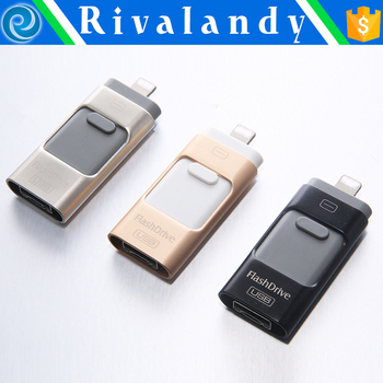 wholesale price for 3 in 1 usb flash drive for android, ios and pc with real capacity