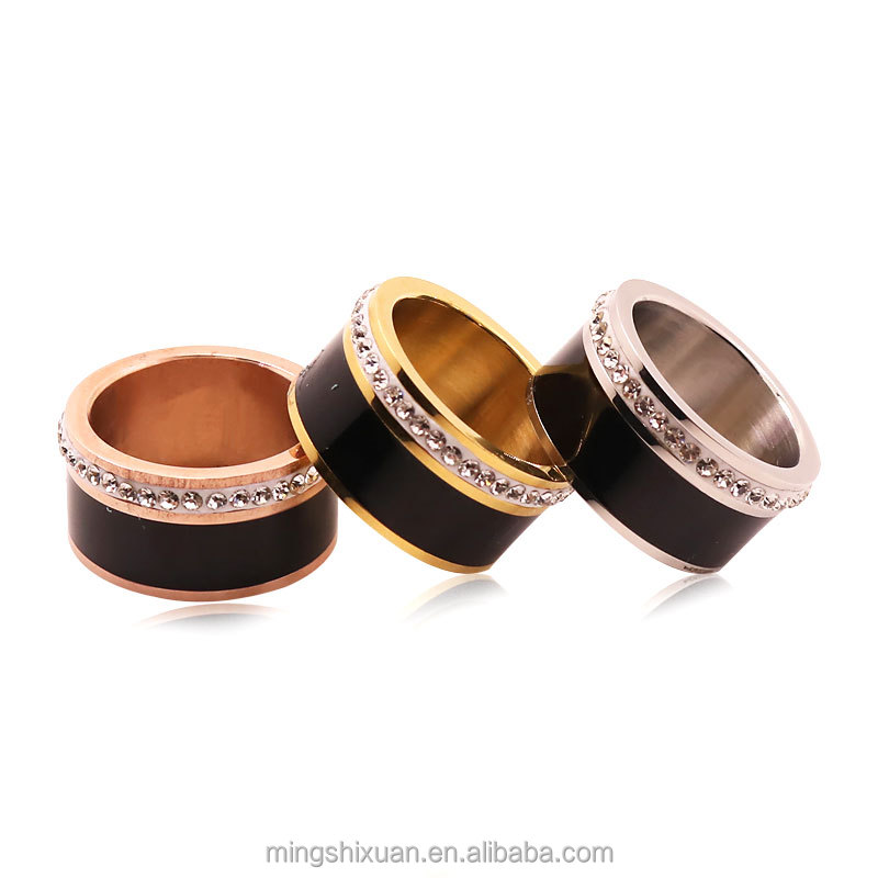 Stock! China Factory New 316L Stainless Steel Ring Jewelry,Multi colors Enamel Ring Jewellery