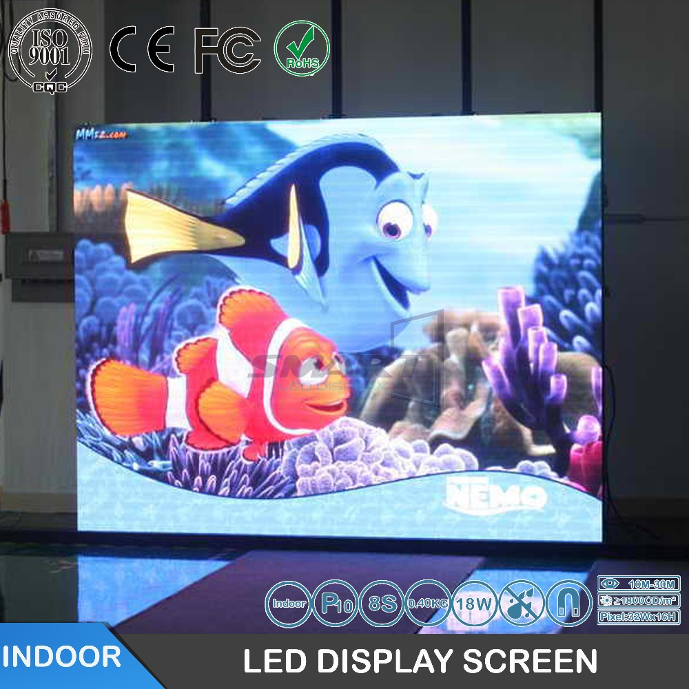 P10 smd full color indoor 10mm advertising led display screen