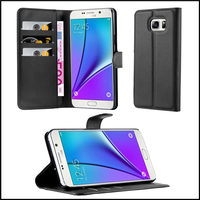 Wallet Leather Moblie Phone Case Cover for Samsung Galaxy Note 5
