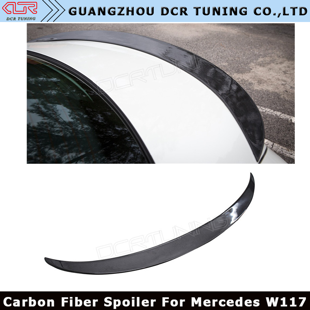 Auto Carbon Fiber Spoiler For Mercedes CLA Spoiler CLA45 <strong>W117</strong> C117 Carbon Fiber Rear Trunk Wings Spoiler 2013-UP