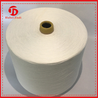 Top high quality covered spun this yarn polyester yarn raw white