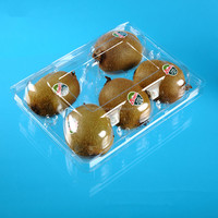 custom accpet rectangular clear pet/pp/ps/pvc plastic packing box with hinged lid for fruits