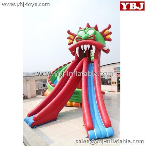 hot selling residential inflatable spiral water slide/TROPICAL WATER SLIDE