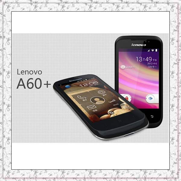 Original Lenovo A60+ 256MB RAM 512M ROM Android 2.3 MTK6575 1GHz CPU 3.5inch Smartphone Google play WCDMA GSM Mobile Cell Phone