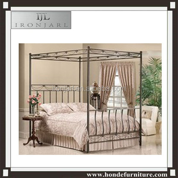 2016 Top-selling modern wrought iron canopy bed